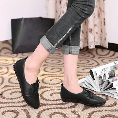 Spring Autumn Women Comfortable Flat Shoes Casual Pointed Toe Loafers Shoes YA