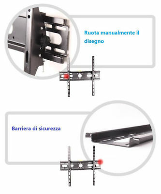 "Staffa Parete Muro Inclinabile Tv Lcd Tft Led 23-55"" Vesa Supporto Max 400X400"
