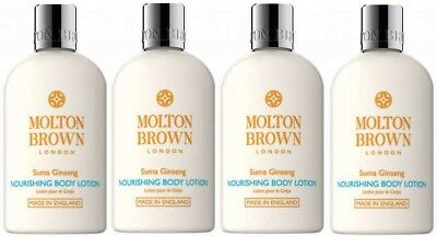 4 x 100ml Molton Brown Suma Ginseng Nourishing Body Lotion