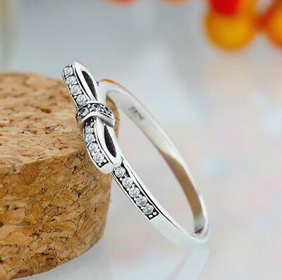 Fashion Women Pandora Ring Silver Color Engagement Party Wedding Jewelry New