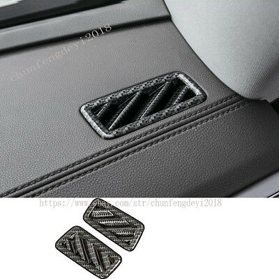 ABS Carbon Fiber Inner Rear Air Vent Outlet Trim For VW Atlas Teramont 2017 2018