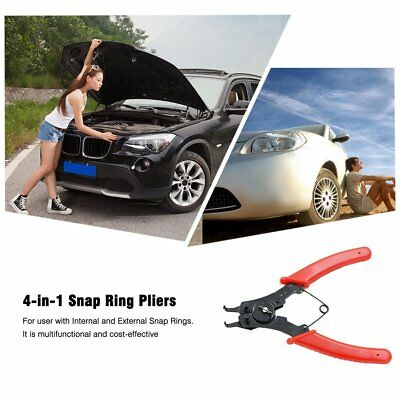4-in-1 Snap Ring Pliers Plier Set DIY Circlip Combination Retaining Clip Red AW