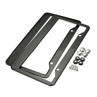 MERCEDES Logo STAINLESS STEEL Chrome Metal License Plate Frame w//caps 14-17