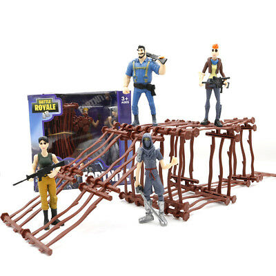 """2Pcs Fortnite 4.5"""" Action Figure Toy Kids Boys Gift Doll Model Playset with Dock"""