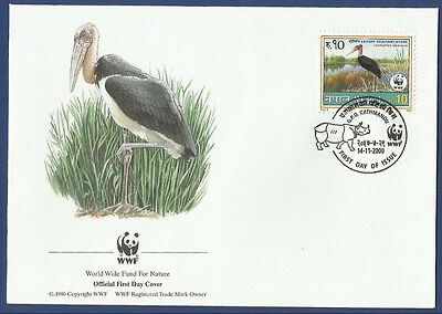 Nepal Mnh  Fdc First Day Cover 2000 World Wide Fund For Nature
