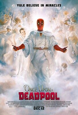 "Once Upon A Deadpool Poster 48x32"" 40x27"" Christmas 2018 Movie Film Print Silk"