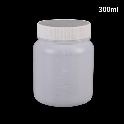 300Ml Clear Plastic Cylinder Shaped Chemical Storage Reagent Sample Bottle 9 JDU