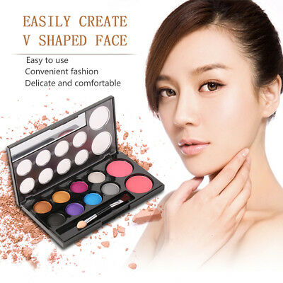 2Colors Professional Blusher+8Colors Eye Shadow Makeup Cosmetic Palette Tool B5