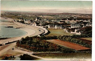 Postcard: Guernsey, Cobo, Panoramic View, Vue Generale, Posted 1909, Lucien Levy