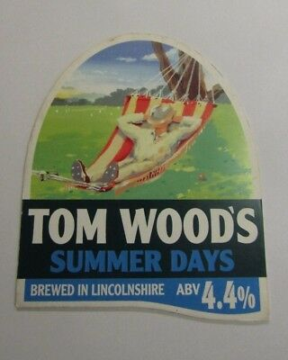 Tom Wood's Summer Days Beer Pump Clip Cover
