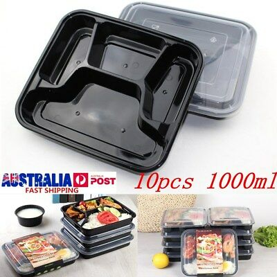 20X Microwavable Meal Prep Containers Plastic Food Storage Reusable Lunch Box