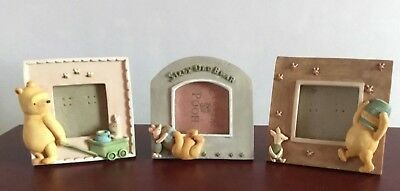 3 x Winnie the pooh Charpente picture frames 3 x 3 inches - Very Good Condition