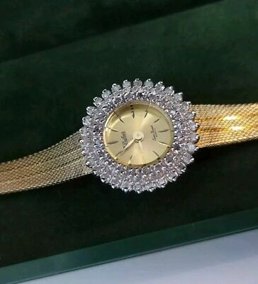 Vintage Lucien Piccard Woman's Watch With 50 Diamonds! New Old Stock!!!