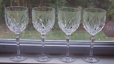 Marquis Waterford Crystal Brookside All Purpose Wine Goblets Glasses - Set of 4