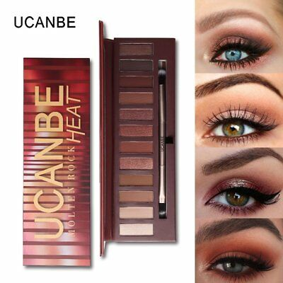 12 Colors Eye Shadow Makeup Palette Shimmer Matte Long Lasting Smooth Powder QH