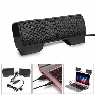 Mini USB Wired Computer Speakers Stereo Deep Bass Music Sound Bar for Laptop PC