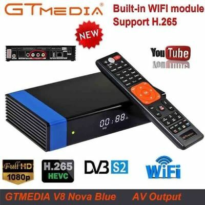 GTMEDIA V8 NOVA DVB-S2 Digital WiFi TV Empfänger HD 1080P Set Top Box H.265 Blau