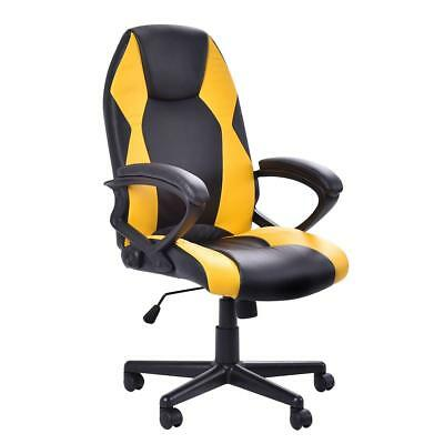 Executive Swivel Adjustable Pu Leather Computer Desk Office Chair Reclining Seat