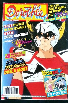 Dorothée Magazine N°45; Chevaliers du Zodiaque/ Zouk Machine/ Poster Dragon Ball