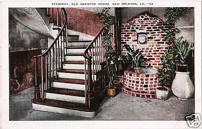 Postcard New Orleans Louisiana LA Old Absinthe House ca 1940's French Quarter