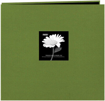 "Pioneer Fabric Frame Post Bound Album 12""X12""-Herbal Green MB10CBFN-HG"