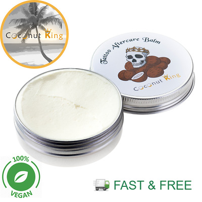 Coconut King Tattoo Aftercare Balm Cream 100% Natural, Vegan & Cruelty Free