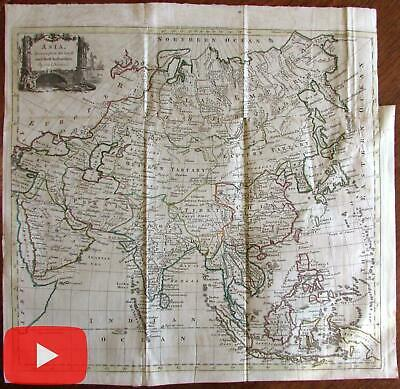 Asia Saudi Arabia India China Japan Tibet c.1771 decorative scarce Kitchin map