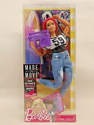 Barbie Made To Move Doll Dancer Pink Hair