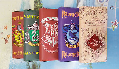 Xmas Harry Potter Zipper Hand Bags Wallets Cosplay Gryffindor Slytherin Hogwarts