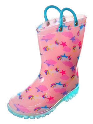 Lilly Girls' Light-Up Rubber Rain Boots (Sizes 5 - 12)