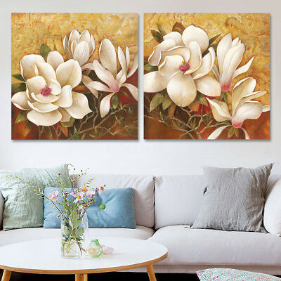 2pcs Framed Canvas Print Painting Picture Landscape Decor Home Wall Art Flower