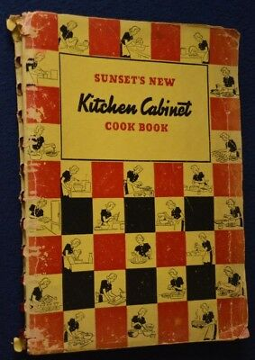 Sunset's New Kitchen Cabinet Cook Book, 1st EDITION, 1938, PLUS 1 other!