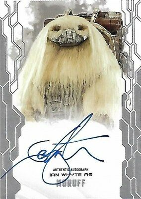 2017 Topps Star Wars Masterwork Autograph Ian Whyte as Moroff MAA-IW