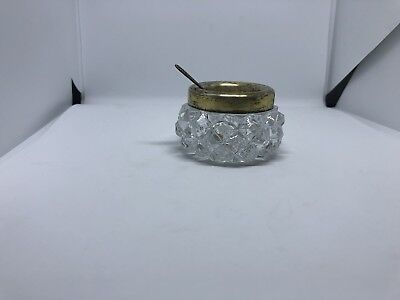 Vintage salt shaker made of rock crystal and Soviet silver 875 samples!!!