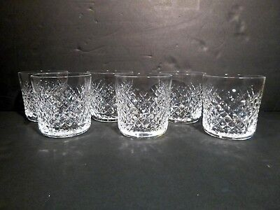 """*VINTAGE* Waterford Crystal ALANA (1952-) Set of 6 Old Fashioned 3 3/8"""" 9oz"""