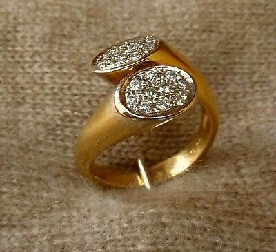 Damen Ring Brillanten Diamanten 750er Gelbgold 18Kt.