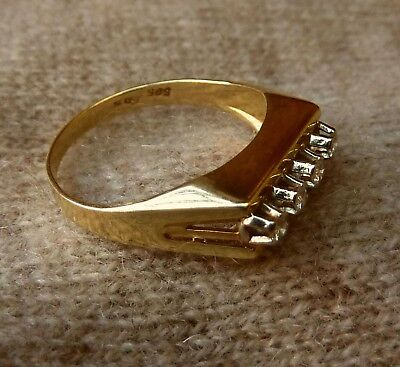 Damen Ring Brillanten Diamanten 585er Gelbgold 14Kt.