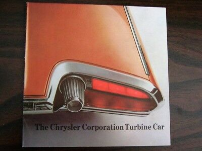 Original 1964 Chrysler Turbine Car Promotional Brochure