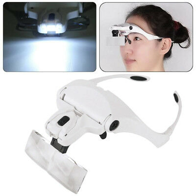 Dental Magnifier Glass Dentist Loupes 5 Lens Surgical Binocular Head Led Medical
