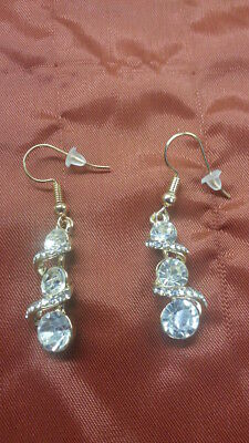 Snowman Cubic Zirconia Earrings FREE GIFT BOX!!!!