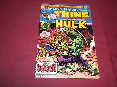 Marvel Feature #11 marvel 1973 bronze age 5.0/5.5 comic! 1ST SOLO THING! HULK!!!