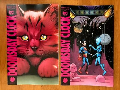 Doomsday Clock 8 Main + Variant Gary Frank Covers Set Watchmen  DC 2018 NM+