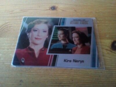 Star Trek   Women Of Star Trek 50Th Anniversary Metal Card Of Kira Nerys Card 65