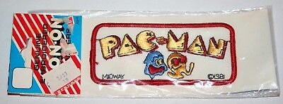 Vintage Joy Insignia 1981 Pac Man Logo Iron On Embroidered Patch Midway Pacman