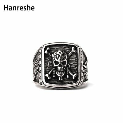 Ring Skull Captain Jack Sparrow Pirates of the Caribbean Punk Rock For Men