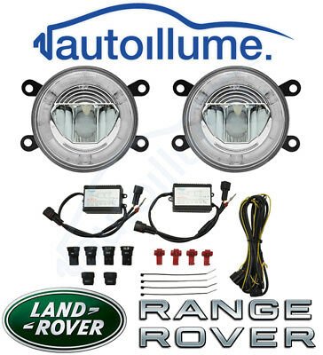 Land Rover Range Rover Sport Defender Freelander LED DRL Angel Eye Fog Light Kit