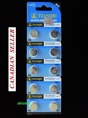 Exp 2022 !!! 10 pcs AG13 LR44 LR1154 SR44 A76 303 357.. Alkaline Battery
