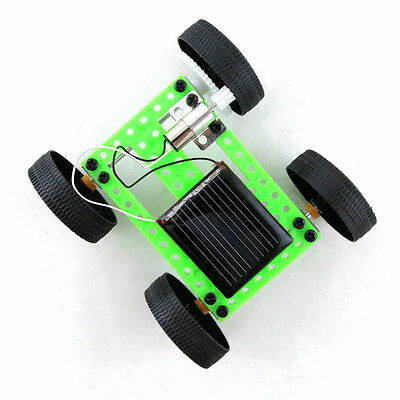Mini Solar Powered Toy DIY Car Kit Children Educational Gadget Hobby Funny EW