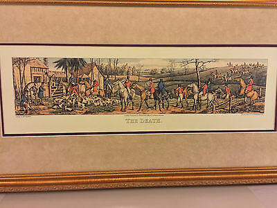 2nd Fox Hunt Print Made to Look Like An Engraving Professionally Framed & Matted