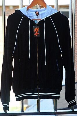 New JEAN PAUL GAULTIER Mens Full Zip Hooded Sweater With EMBROIDERY Size L